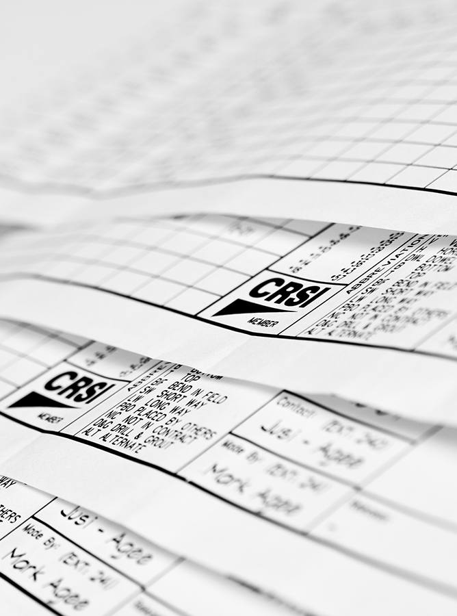 Whitacre Rebar CSRI drawing rebar estimating services