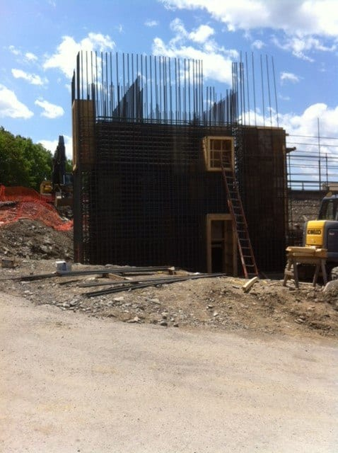 Poughkeepsie Water Treatment Facility with rebar work by Whitacre Rebar