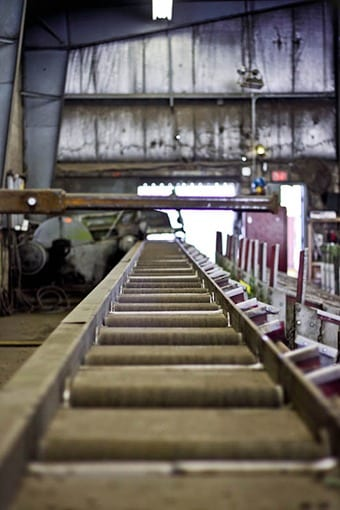 Whitacre Engineering rebar fabrication in warehouse