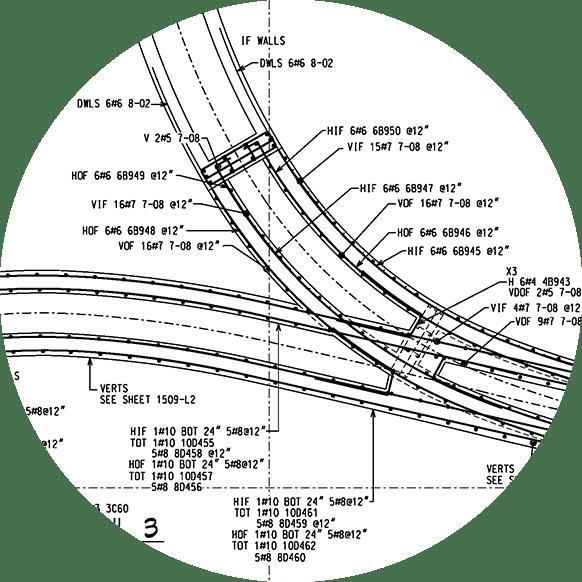 Whitacre Engineering rebar stucture detailing