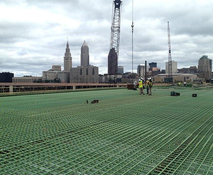 Whitacre Rebar featured project Innerbelt Bridge I-90 Cleveland