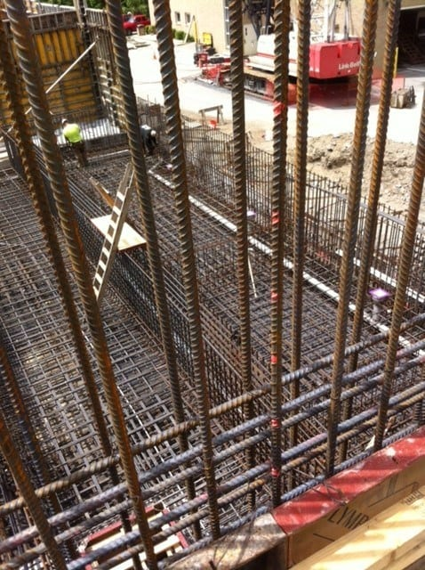 Poughkeepsie Water Treatment Facility rebar structure by Whitacre Engineering
