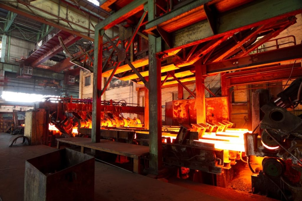 Interior of a Steel Mill